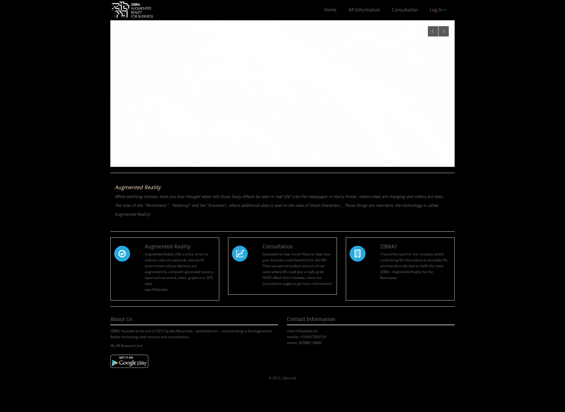 Screenshot for zibra.fi